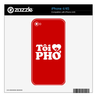 I Heart (Love) Pho (Tôi ❤ PHỞ) Vietnamese Language Skin For The iPhone 4S