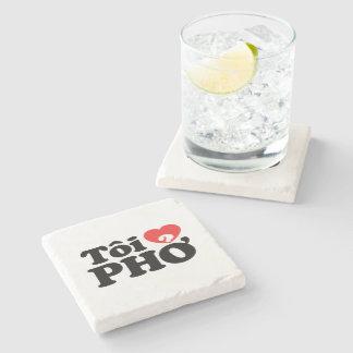 I Heart (Love) Pho (Tôi ❤ PHỞ) Vietnamese Language Stone Coaster