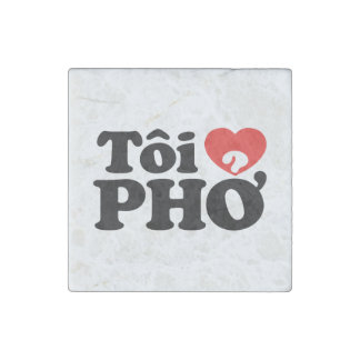 I Heart (Love) Pho (Tôi ❤ PHỞ) Vietnamese Language Stone Magnet