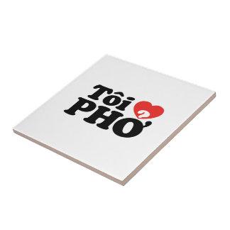 I Heart (Love) Pho (Tôi ❤ PHỞ) Vietnamese Language Tile