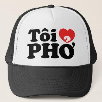I Heart (Love) Pho (Tôi ❤ PHỞ) Vietnamese Language Trucker Hat