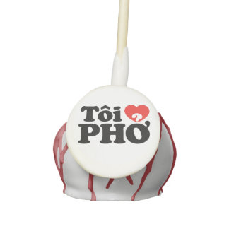 I Heart (Love) Pho (Tôi ❤ PHỞ) Vietnamese Language Cake Pops