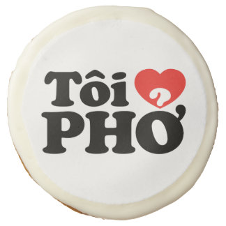 I Heart (Love) Pho (Tôi ❤ PHỞ) Vietnamese Language Sugar Cookie