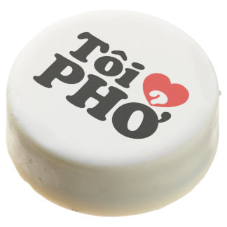 I Heart (Love) Pho (Tôi ❤ PHỞ) Vietnamese Language Chocolate Covered Oreo