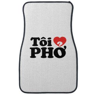 I Heart (Love) Pho (Tôi ❤ PHỞ) Vietnamese Language Floor Mat
