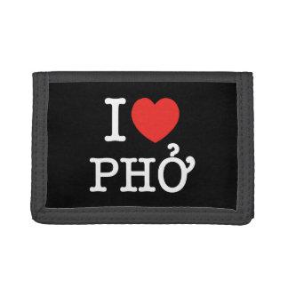 I Heart (Love) Pho Trifold Wallet