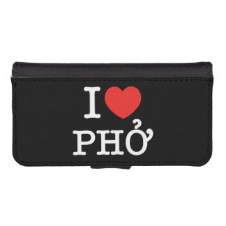 I Heart (Love) Pho Wallet Phone Case For iPhone SE/5/5s
