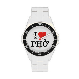 I Heart (Love) Pho Wrist Watches