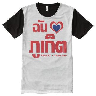 I Heart (Love) Phuket ❤ Thailand All-Over Print Shirt