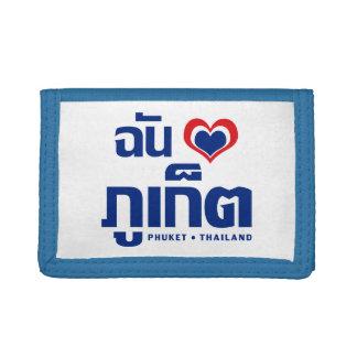 I Heart (Love) Phuket ❤ Thailand Trifold Wallet