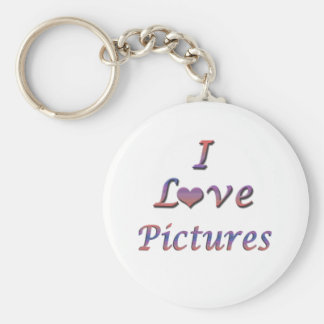 I Heart (Love) Pictures Keychains
