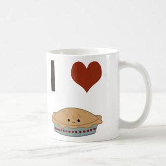 I heart (love) Pie Coffee Mug