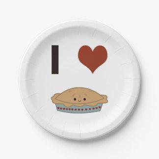 I heart (love) Pie Paper Plate