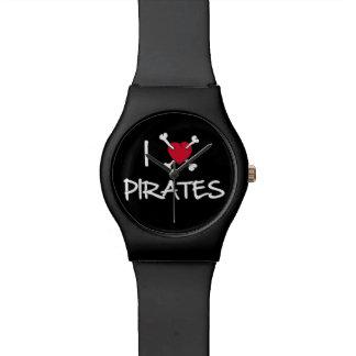 I Heart Love Pirates watch