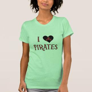 I Heart Love Pirates Womens T-Shirt
