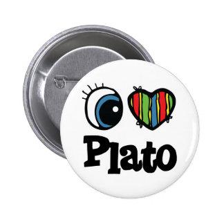 I Heart (Love) Plato Pinback Buttons