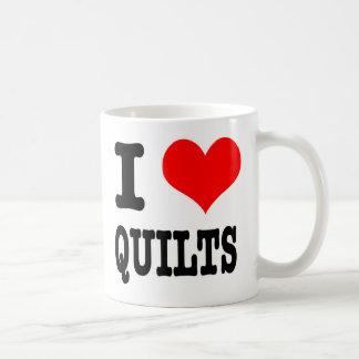 I HEART (LOVE) QUILTS COFFEE MUG
