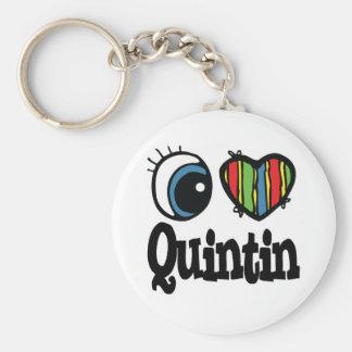 I Heart (Love) Quintin Key Chains