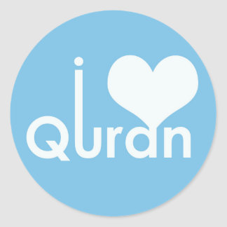 I heart (love) Quran Sticker