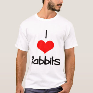 I Heart (Love) Rabbits T-Shirt