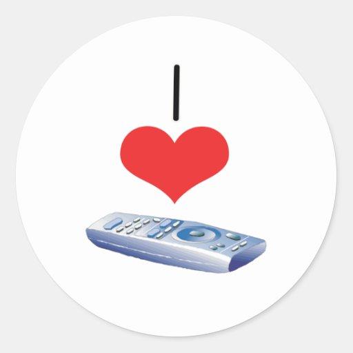 I Heart (Love) Remotes Classic Round Sticker