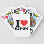 I Heart / love Ripon Bicycle Poker Cards