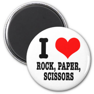 I HEART (LOVE) ROCK PAPER SCISSORS MAGNET
