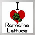 I heart-love romaine lettuce print