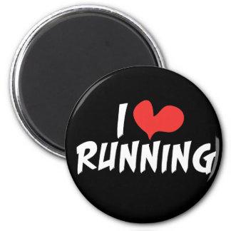 I heart (love) Running 2 Inch Round Magnet