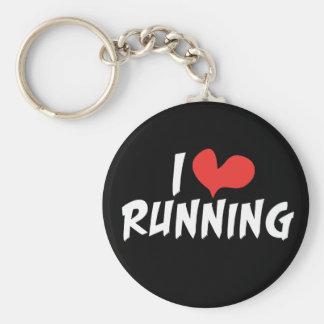 I heart (love) Running Basic Round Button Keychain