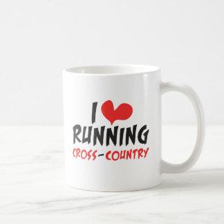 I heart (love) Running Cross Country Classic White Coffee Mug