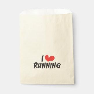 I heart (love) Running Favor Bag
