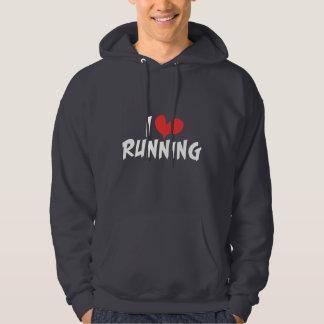 I heart (love) Running Hoodie