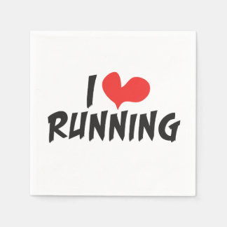 I heart (love) Running Paper Napkin
