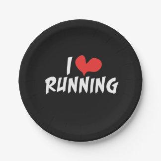 I heart (love) Running Paper Plate
