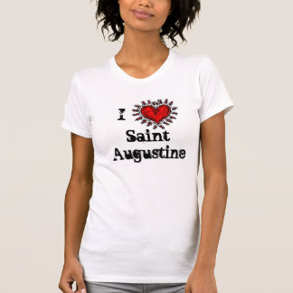 I heart (love) Saint Augustine T-shirt