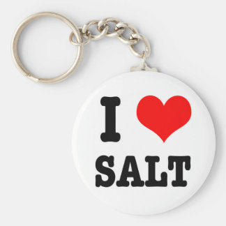 I HEART (LOVE) SALT KEYCHAIN