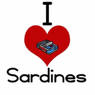 I heart-love sardines photo sculpture ornament