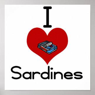 I heart-love sardines poster