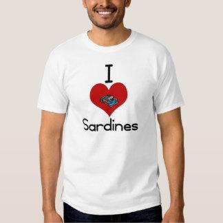 I heart-love sardines t-shirts