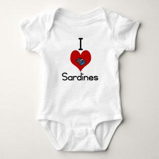 I heart-love sardines t shirts