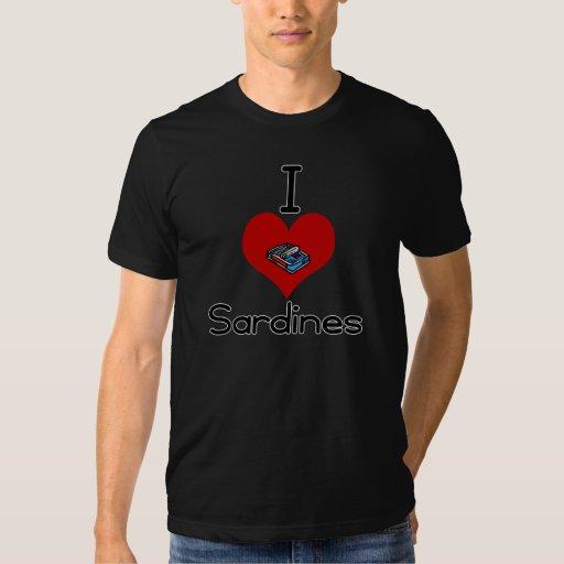 I heart-love sardines tee shirts