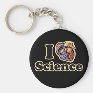 I Heart Love Science Anatomically Correct Basic Round Button Keychain