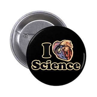 I Heart Love Science Anatomically Correct Button