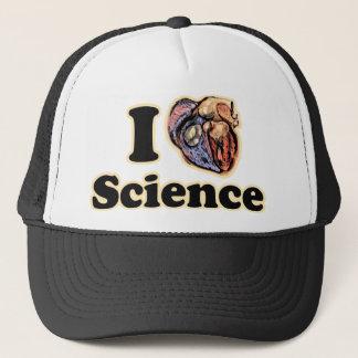 I Heart Love Science Anatomically Correct Geek Trucker Hat
