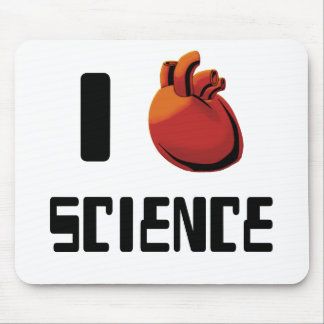 I Heart Love Science Mouse Pad