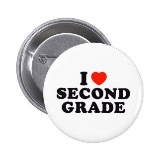 I Heart / Love Second Grade Buttons