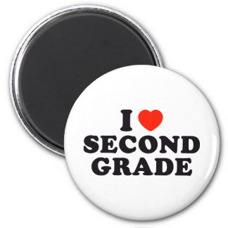 I Heart / Love Second Grade 2 Inch Round Magnet