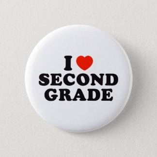 I Heart / Love Second Grade Pinback Button