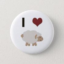I heart (love) sheep button